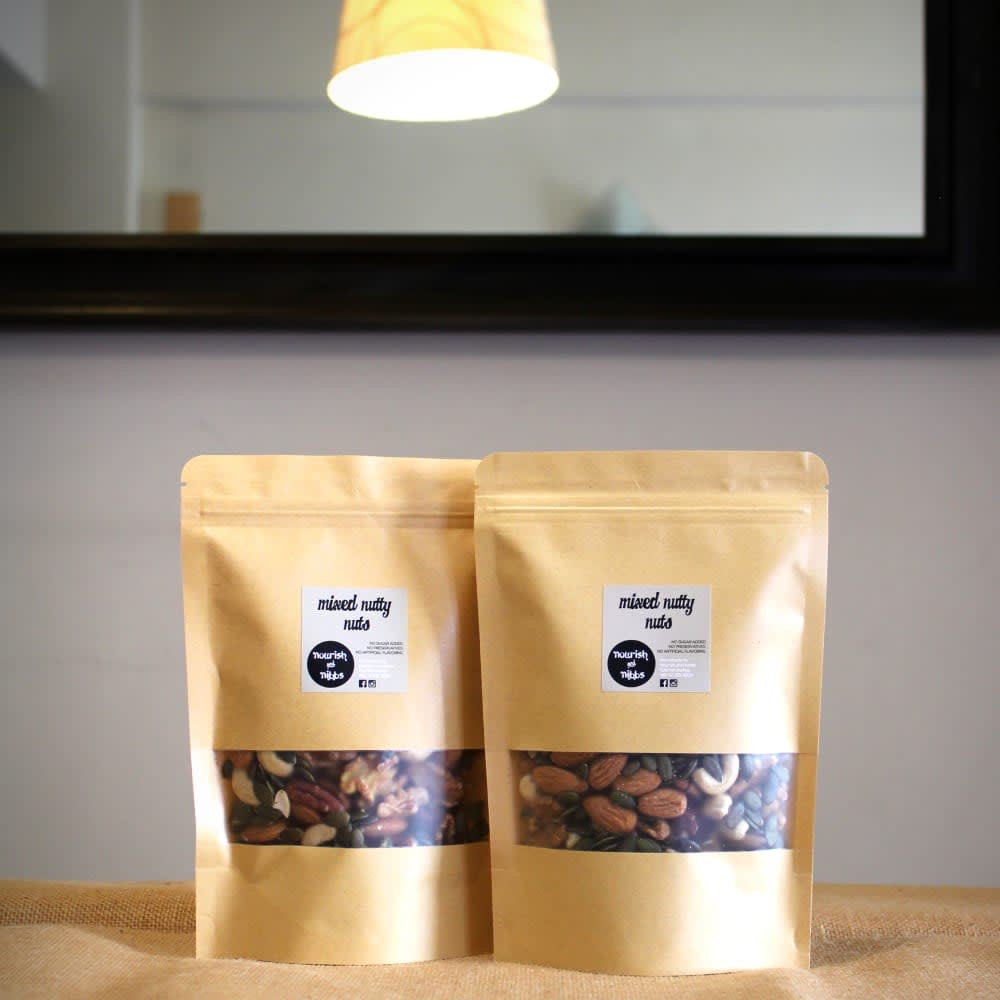 Mixed Nutty Nuts from Nourish & Nibbs - healthy snacks, healthy snacks to buy, low calorie snacks, low carb snacks, heart healthy foods