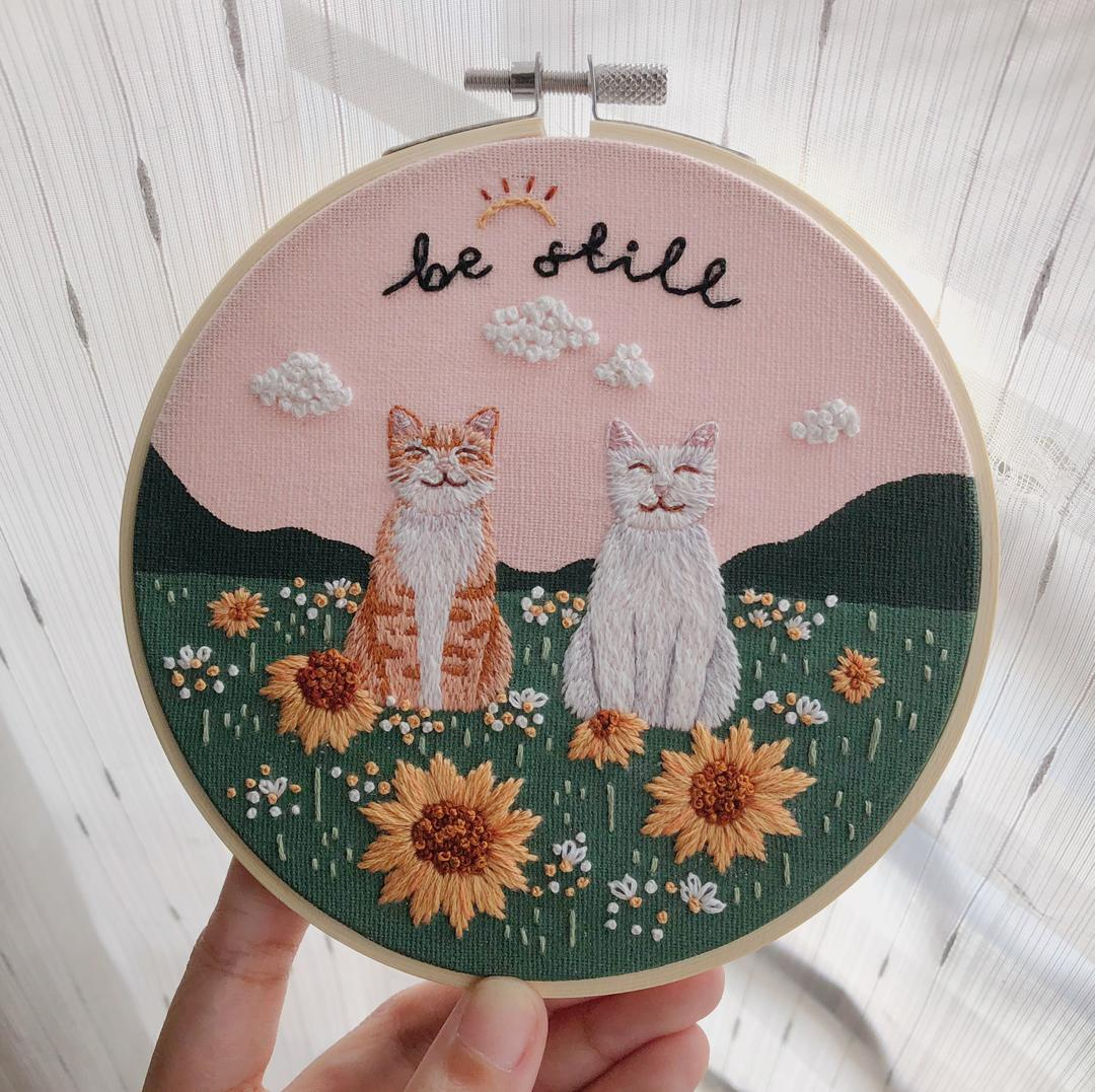 Check out imsycraft on Poptron.co for all your home embroidery kits!